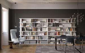 Spazioteca SP028, étagère debout libre idéal pour les environnements modernes