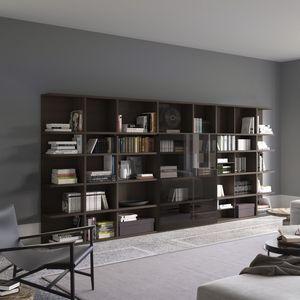 Spazioteca SP017, Bibliothèque modulaire, sur mesure, pour un usage professionnel