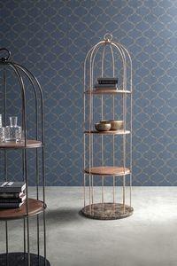 TWEET, Bibliothèque en bois, sous forme de cage