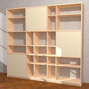 Yuki-M, Bibliothèque en hêtre