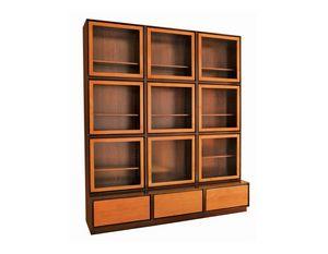 Zero FS3410170, Bibliothèque avec portes vitrées