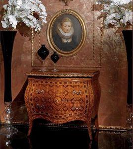 Art. 400, Buffet de style classique avec 2 tiroirs, en bois décoré