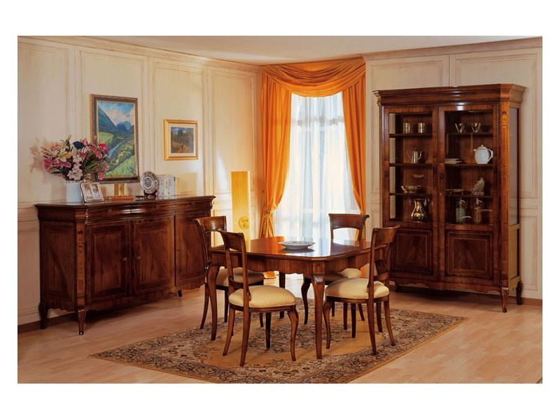 Art. 903 sideboard '800 Francese, Buffet incrustée, le luxe, pour salle à manger