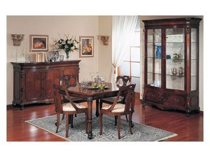 Art. 972 sideboard '700 Siciliano, Buffet avec un style de luxe classique, en bois sculpté, pour salon
