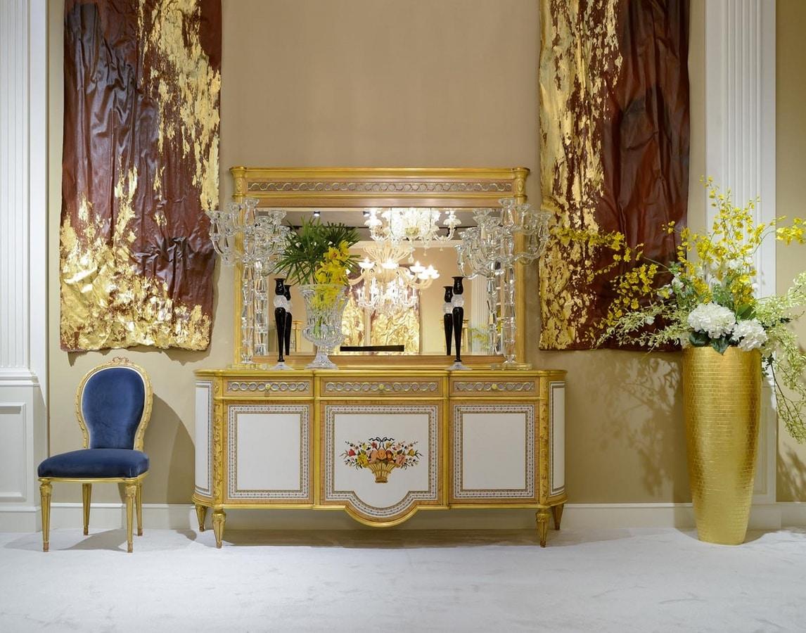 Buffet De Style Louis XVI 1440, Buffet classique avec incrustations florales
