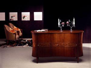 CR18 Godet buffet, Buffet classique en bois courb�s, bruy�re d�corations