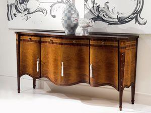 CR41 Pois Buffet, 4 portes incrustées Buffet, dans un style classique, pour le salon