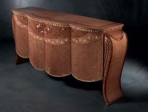 CR48 Vanity, Buffet dans un style classique, en noyer, pour Salotti