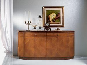CR491 Neoclassica buffet, Buffet en bois ovale, le style de luxe classique