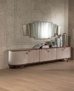CR56K Mistral buffet, Gainée cuir buffet, dans un style contemporain et classique