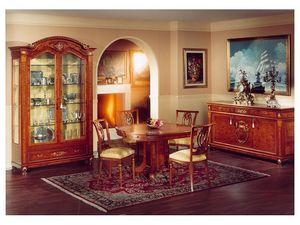 DUCALE DUCCR3P / Buffet avec 3 portes, Buffet de style classique, en loupe de frêne