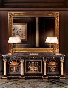 F950, Buffet en bois sculpté à la main, style classique