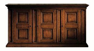 Fosciandora ME.0448, Noyer Buffet avec 3 portes, marqueterie, classique