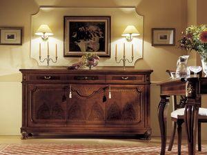 GRANDUCATO / Credenza a 3 ante, Buffet avec 3 tiroirs et 3 portes, pour le salon
