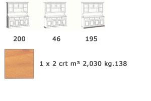 VAD/4, Buffet en bois massif, pour salle de séjour rustique