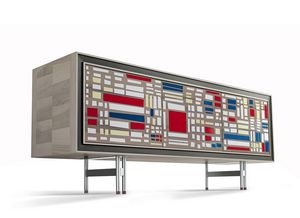 A-616, Buffet avec patchwork chromatique
