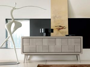 A-630, Buffet en noyer gris naturel