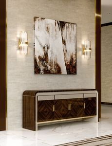 ART. 3330, Buffet avec des décorations en cuir