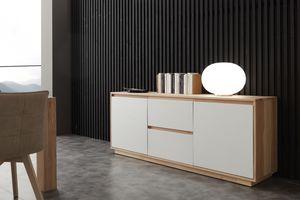 Art. 694MD Madia Factory, Bahut blanches façades en laqué, pour le salon
