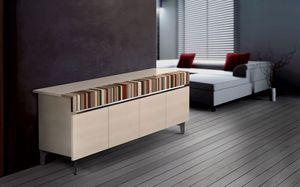 ATHENA 2.3 BC ACERO, Buffet design, 4 portes, idéal pour l'environnement résidentiel moderne