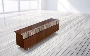 ATHENA 2.7 BC – MOGANO, Buffet en acajou, 4 portes, disponible avec différentes combinaisons de bois