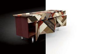 ATHENA 2.7 PW45 Palissandro, Buffet en bois de rose, couvrant en essences de bois croisés, idéal pour les environnements élégants