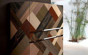 ATHENA QUADRA PW45, Buffet main, inserts en bois de qualité, adapté aux environnements résidentiels élégants