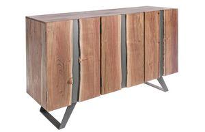 Buffet 3A Aron, Buffet en bois d'acacia et métal