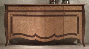 CR59 Charme buffet, Buffet de bois marqueté, des hôtels de luxe