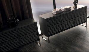 Ebon Art. 445, Buffet en bois, avec six tiroirs