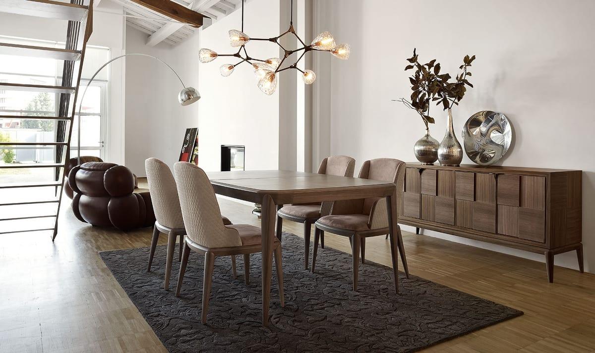Fionn buffet, Buffet en bois pour salon moderne