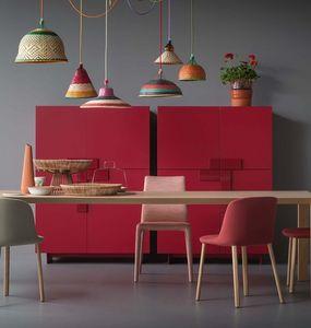 Ginevra, Cabinet avec un design simple, avec des portes en saillie