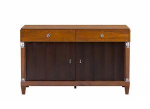 Heritage Buffet avec 2 tiroirs, Buffet à deux couleurs en bois