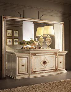 Leonardo buffet, Buffet classique, a terminé en feuille d'or, 4 portes
