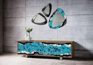 Life Oceanside buffet, Buffet élégant avec portes en pierre de lave