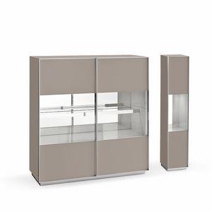 Miss A, Concevoir buffet, en verre et en aluminium, pour le salon