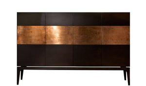 Rame, Cabinet avec bande de cuivre décorative