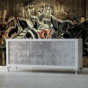 Sessanta GREEN5501B, Buffet moderne avec portes argentées