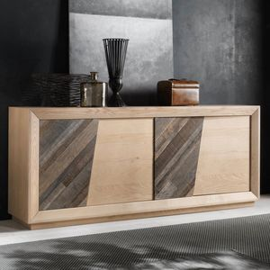 Spazio Contemporaneo SPAZE1051, Buffet avec portes en bois anciennes et compartiments secrets