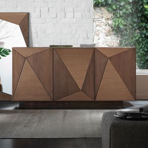 Spazio Contemporaneo SPAZE1063, Buffet 3 portes avec décorations triangles