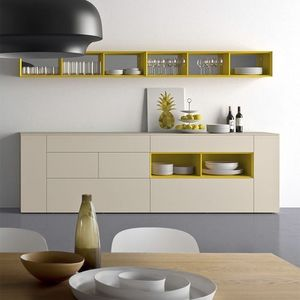 Spazio S306, Sideboard dans le style essentiel, en bois