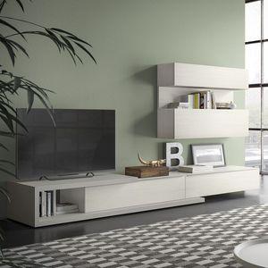 Spazio S309, Système de mur pour la télévision, avec le système de salut-fi