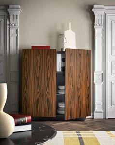 Tosca, Madia élégant, palissandre et finitions exotiques d'ébène également disponibles