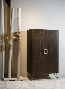 ZEUS armoire de bar GEA Collection, Armoire de bar, caractérisée par l'utilisation de textures naturelles