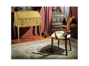 3255 DROP-FRONT DESK, Bureau en bois décoré à la main, luxe classique