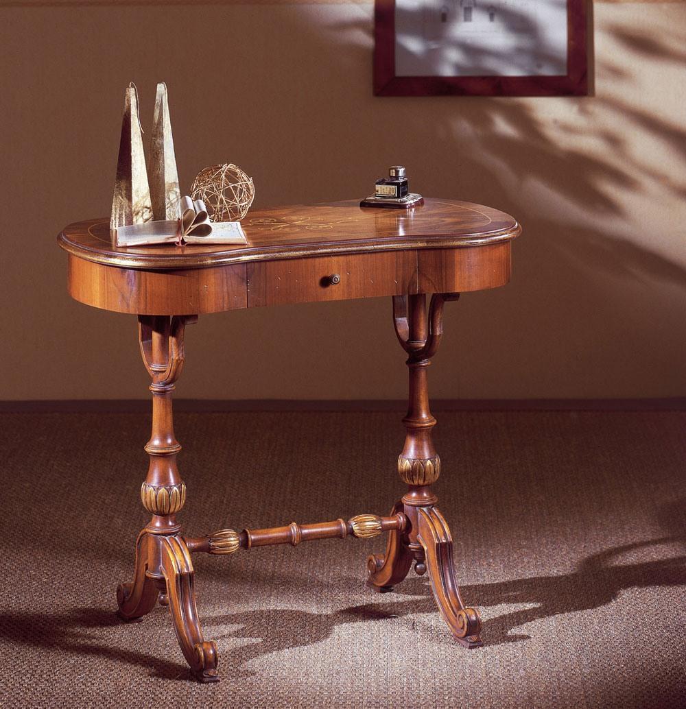 Art. 213, Bureau en bois sculpté à la main, avec tiroir, style classique