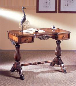 Art. 214, Bureau luxueux, bois sculpté, avec 2 tiroirs