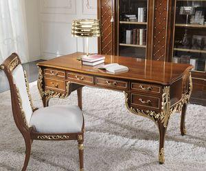 bureau classique en cerisier idfdesign. Black Bedroom Furniture Sets. Home Design Ideas