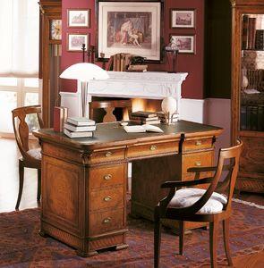Art. 778/140, Bureau en bois pour les bureaux de luxe, avec des incrustations