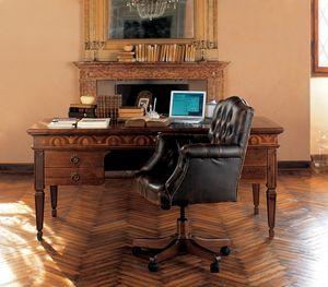 Ca' Venier Art. CV26, Bureau classique en bois massif